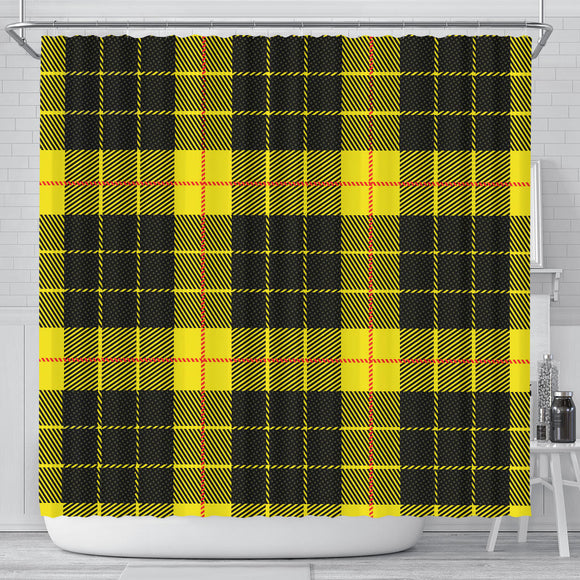 Yellow Tartan Passion Shower Curtain