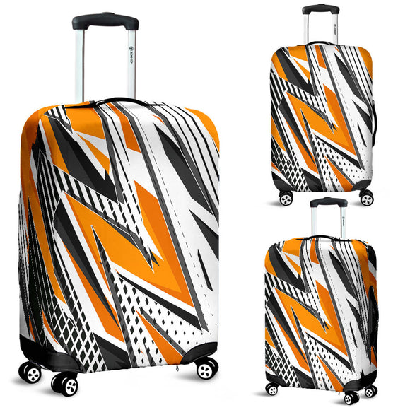 Racing Style Orange Taste Luggage Cover