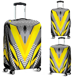 Racing Style Special Grey & Yellow Stripes Vibes Luggage Cover