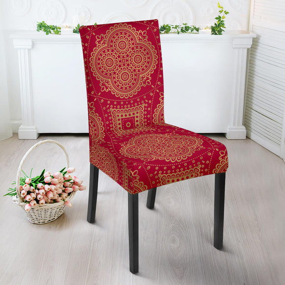 Royal Red Dining Chair Slip Cover