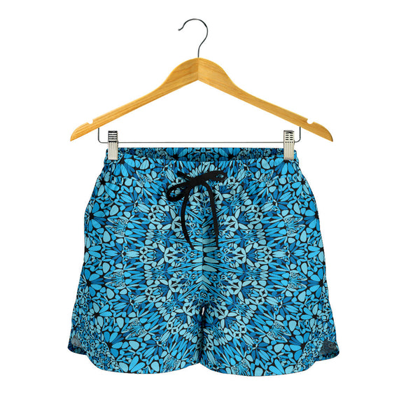 Sky Blue Mandala Women's Shorts