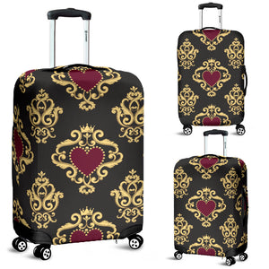 Luxury Royal Hearts Luggage Cover