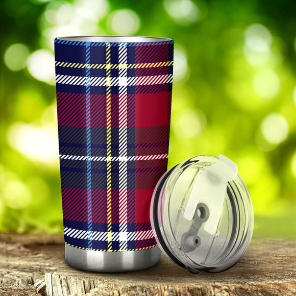 Perfect Exclusive Blue Tartan Magical Dream Tumbler