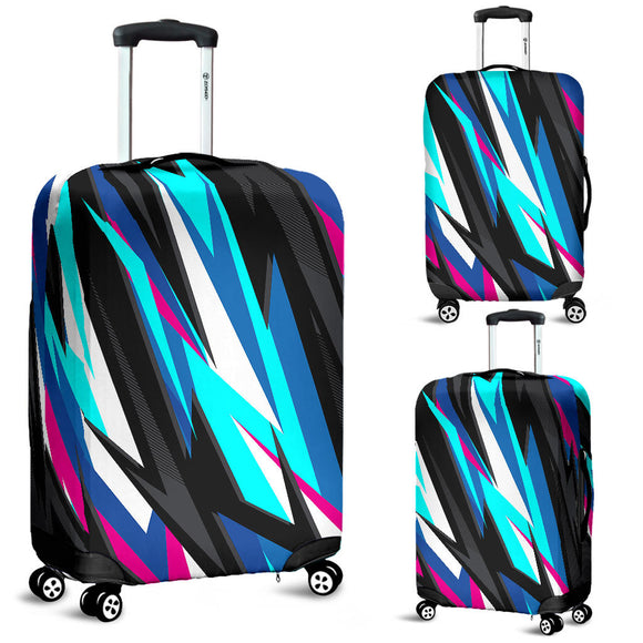 Racing Style Blue & Pink Vibe Luggage Cover