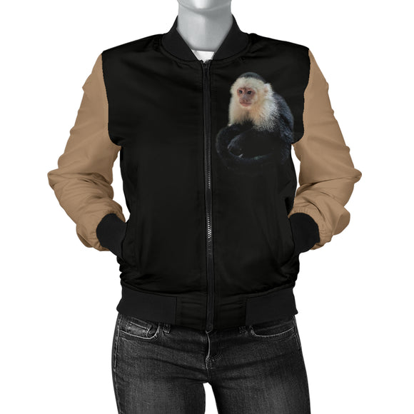 Lovely Monkey Capuchin Women's Bomber Jacket