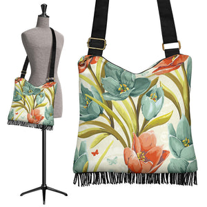 Lovely Flowers Crossbody Boho Handbag