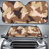 Simply Brown Camouflage Auto Sun Shades