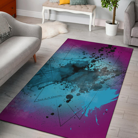 Purple Fresh Street Art Design Area Rug