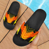 Racing Style Neon Orange & Black Vibes Slide Sandals