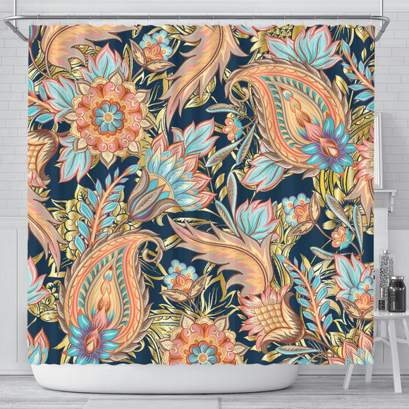 Romantic Paisley Shower Curtain