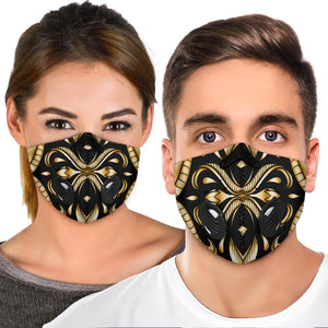 Black & Gold Luxury Design Premium Protection Face Mask