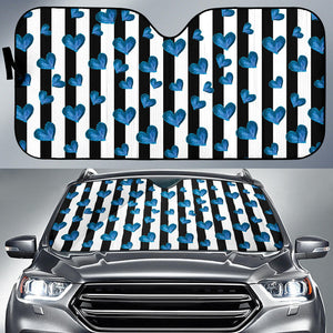 Blue Hearts Auto Sun Shades