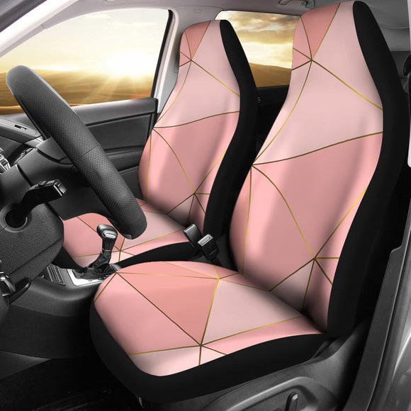 Glittering Marble Love Car Seat Cover