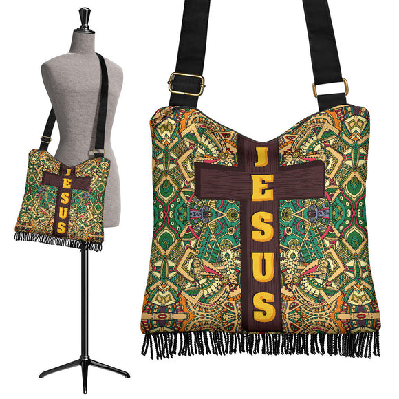 Jesus Is With You Crossbody Boho Handbag