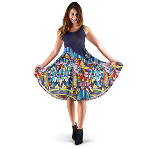 Blue Henna Women's Dress