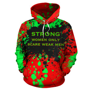 Strong women only scare weak men. Boss Girl Quotes Fresh Style Unisex Hoodie