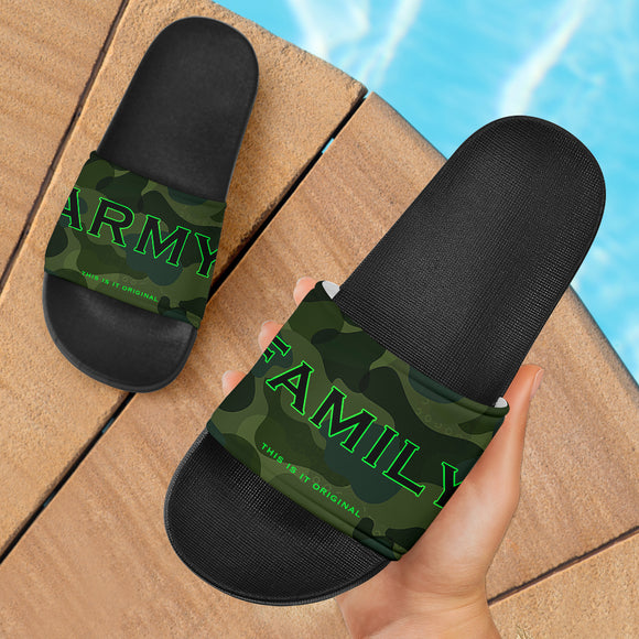 ARMY FAMILY. Luxury Design Camouflage Army Style Slide Sandals