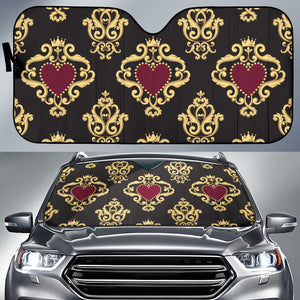 Luxury Royal Hearts Auto Sun Shades