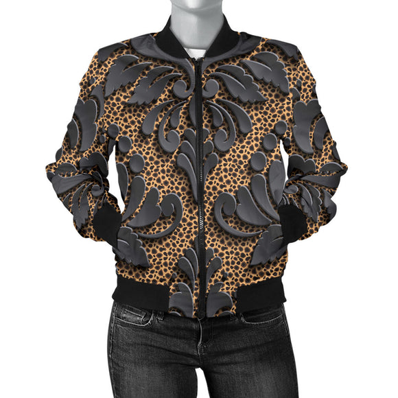 Royal Black Women's Bomber Jacket
