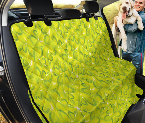 Yellow Neon Love Pet Seat Cover