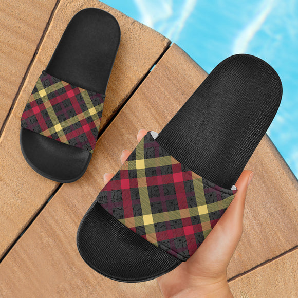 Exclusive Tartan Slide Sandals