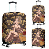 Paris Girl Luggage Cover
