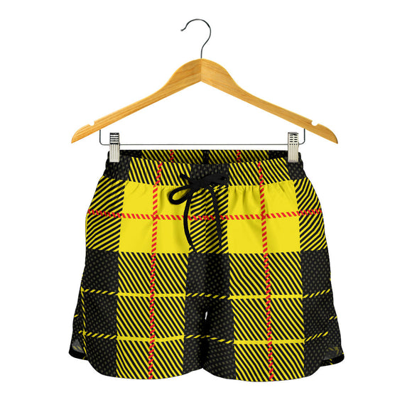 Yellow Tartan Passion Women's Shorts