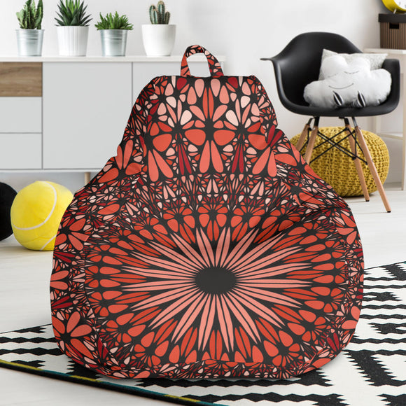 Red Spiritual Mandala Bean Bag Chair