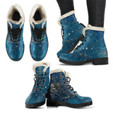 Stars Night Lovers Faux Fur Leather Boots