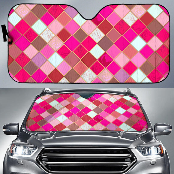 Pink Tiles Magical World Auto Sun Shades