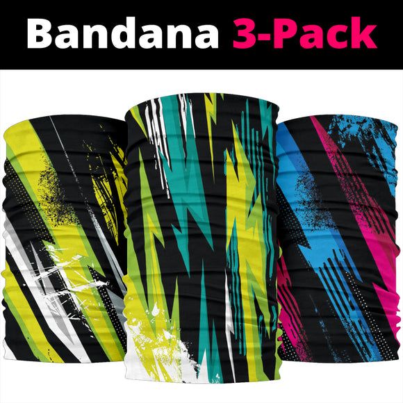 Racing Colorful Style Bandana 3-Pack