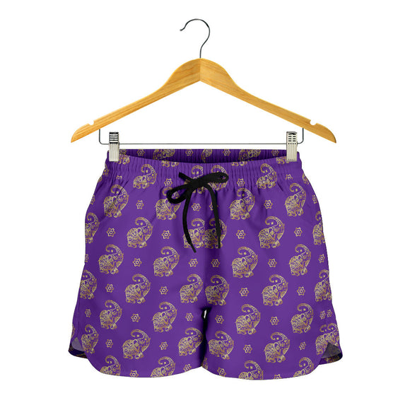 Lucky Purple Elephant Women's Shorts
