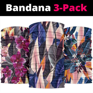 Colorful Flowers Art Bandana 3-Pack