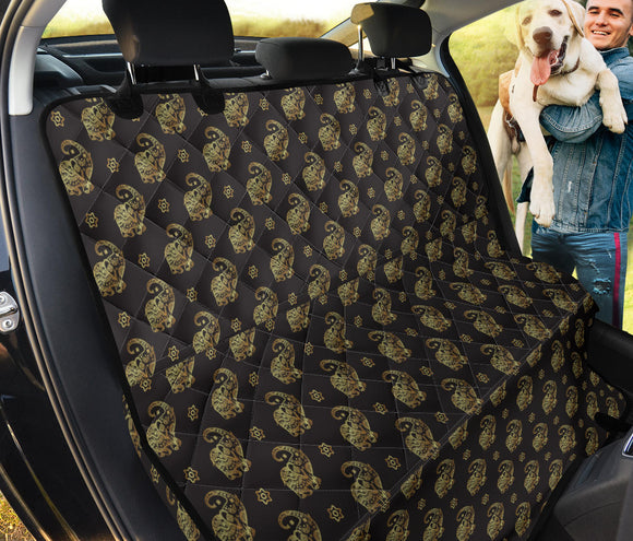 Golden Elephants Pet Seat Cover