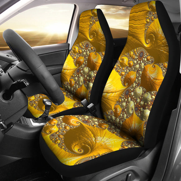 Psychedelic Gold Car Seat Cover