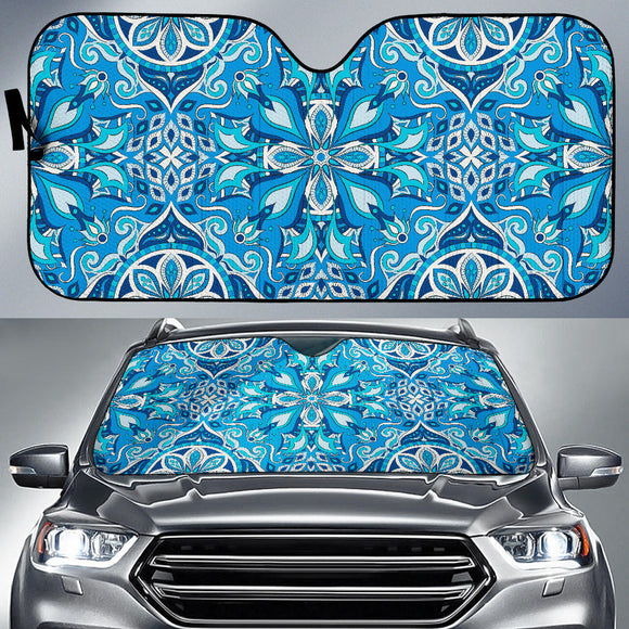 Blue Boho Magical World Auto Sun Shades