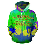 CBD holds the power to heal. Street Wear art Design Hoodie