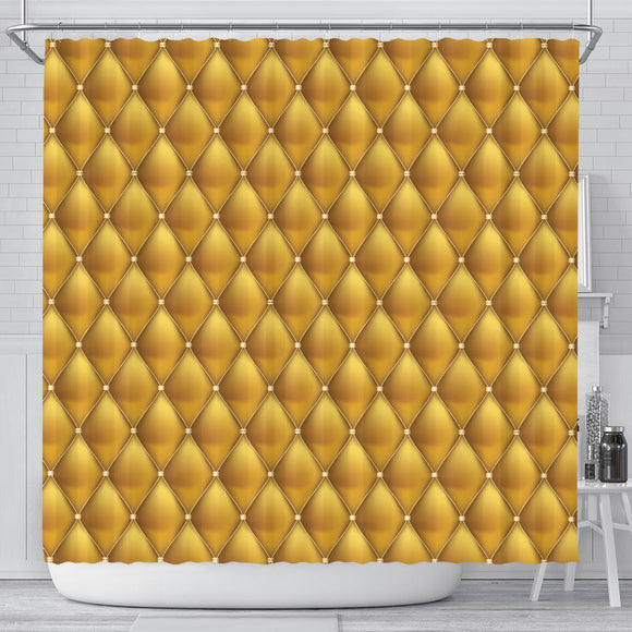 Exclusive Golden Pattern Shower Curtain