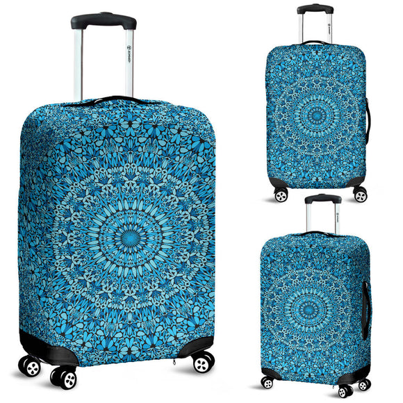Sky Blue Mandala Luggage Cover
