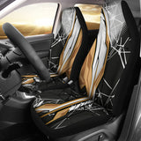 Racing Style Black & Brown Vibes Car Seat Covers