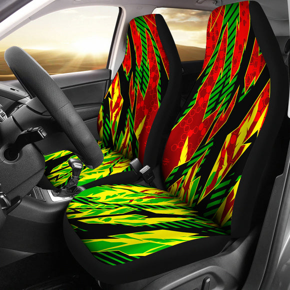 Racing Samba Style Red & Yellow Vibes Car Seat Covers