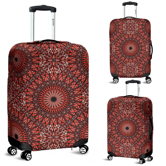 Red Spiritual Mandala Luggage Cover