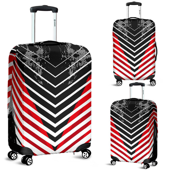 Racing Style Black & Bloody Red Vibes Luggage Cover