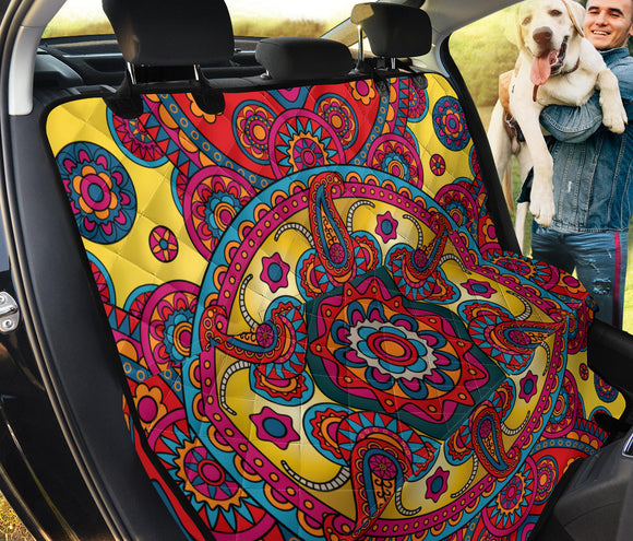 Ornamental Red Magical Dream Pet Seat Cover