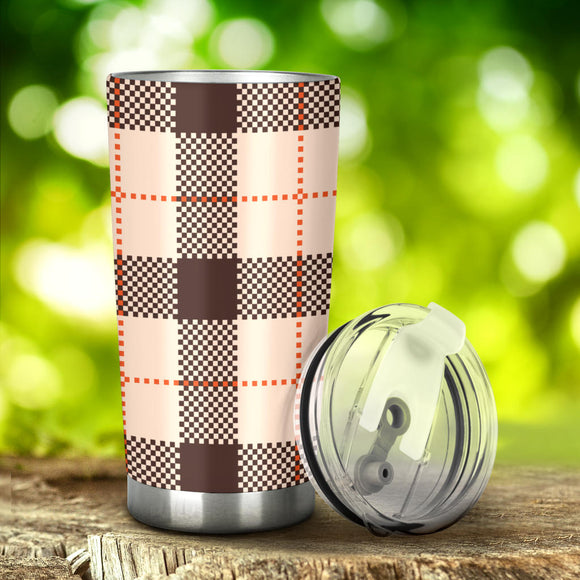 Perfect Brown Tartan Magical Dream Tumbler