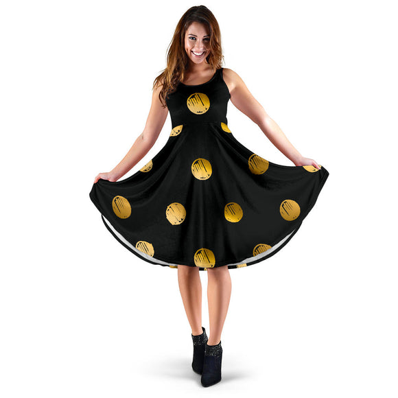 Luxury Golden Dots Women's Dress