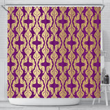 Purple Baroque Shower Curtain
