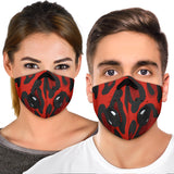 Leopard Design Style in Velvet Red Vibes Premium Protection Face Mask
