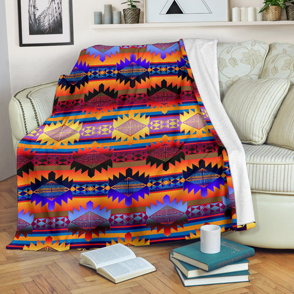 Mountains Orange Sunset Ultra-Soft Micro Fleece Premium Blanket