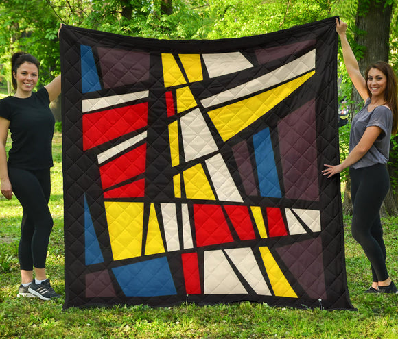 Colorful Geometric Quilt